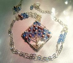 Gypsy Rose Tree of Life Necklace by CandiSuesCreations on Etsy, $58.00