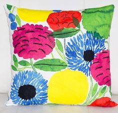"""Marimekko Pillow Cover Handmade 18""""x18"""" (45x45cm) by PantsandPillows"""