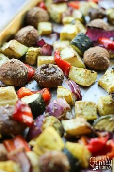 Roasted Vegetable Medley with Mushroom and Zucchini