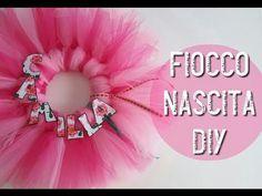 Fiocco Nascita in Tulle ♦ Tutorial Facile!!!!♦ Birth wreath! Super Easy ☆ Serena GingerBread ☆ - YouTube