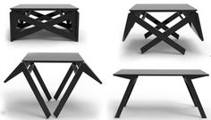 Ingenious Transforming Table: For Coffee or Dining, It Can Handle It All - You wont believe your eyes when you see how this table works. A simple design that wears many hats