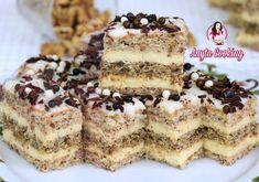 Prăjitura Victoria cu Nucă - Anyta Cooking Romanian Desserts, Delicious Deserts, Food Cakes, Chocolate Cupcakes, Homemade Cakes, Creative Food, Nutella, Cake Recipes, Sweet Treats