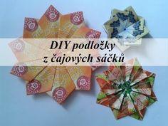DIY podložky z čajových sáčků/DIY pads of the teabags (Tea bag folding) 3d Origami, Paper Folding, Mandala, Gift Wrapping, Tea, Tableware, Blog, Youtube, Ideas