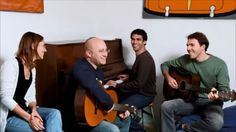 A peek into the early days of WiseStamp...  The WiseStamp founders taking  a break for a quick jam session.
