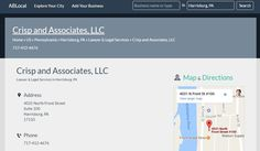 At Crisp and Associates, LLC, we look at the bigger picture and determine the best course of legal action to take based on your situation. https://ablocal.com/us/harrisburg-pa/LX12076044-crisp-and-associates-llc/