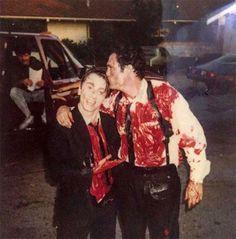 History Discover Tim Roth and Michael Madsen on the set of Reservoir Dogs. Tim Roth and Michael Madsen on the set of Reservoir Dogs. Donald Pleasence, Tim Roth, Michael Myers, Freddy Krueger, Blade Runner, Charlie Chaplin, Quentin Tarantino Films, Non Plus Ultra, Films Cinema