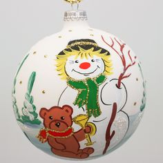 Snowman Ball Christmas Ornament
