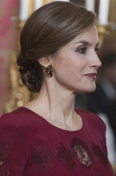 Queen Letizia of Spain Photos Photos - Queen Letizia of Spain receives foreign ambassadors at the Royal Palace on January 26, 2017 in Madrid, Spain. - Spanish Royals Receive Diplomats At The Royal Palace