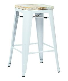 This White Bristow Barstool - Set of Four is perfect! #zulilyfinds