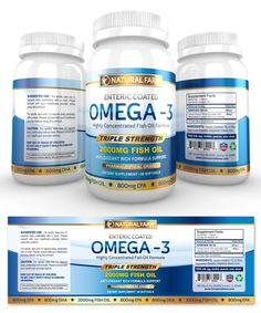 Omega-3 Fish Oil Supplement Label Template http://www.dlayouts.com/template/826/omega-3-fish-oil-supplement-label-template