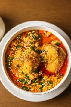 This egusi soup recipe is delicious and easy to make. Egusi soup and pounded yam are top of the list. learn how to cook this nigerian soup in easy steps Egusi Soup Recipes, Nigerian Soup Recipe, Nigeria Food, Cameroon Food, West African Food, International Recipes, Turkey Recipes, African Recipes, Ethnic Recipes