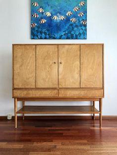 Vintage Pastoe CB03 Buffet kast uit 1953 ontworpen door Cees Braakman. Binnenkort te koop op www.vanons.eu Decor, Vintage Interior Design, Inspiration, Interior Inspiration, Furniture, Interior, Home Decor, Vintage, Vintage Designs