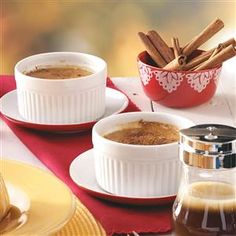 Caramel Apple Creme Brulee Recipe -Here's the cream of the apple dessert crop. Fruit, caramel and cinnamon flavors enhance the rich, velvety custard. Served warm or chilled, it's a classic end to a meal. —Cheryl Perry, Hertford, NC