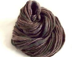 Thick and thin yarn chunky knitting yarn grey yarn bulky yarn, handspun merino knitting yarn thick knitting wool thick n thin hand dyed yarn