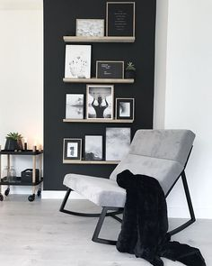 Modern – # Scandinavian – Living decoration – # - Decoration For Home Black And White Living Room, Living Room Grey, Living Room Modern, Home Living Room, Living Room Decor, Living Room Inspiration, Interior Inspiration, Dining Room Design, Home Interior Design