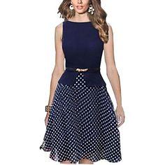 los lunares de las mujeres vestido bengala ajuste - USD $ 21.60