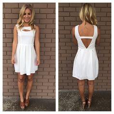 White Open Eye Softy Dress