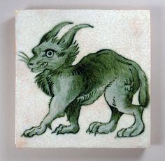 William De Morgan 'Lynx' tile | Flickr - Photo Sharing!
