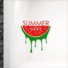 Αυτοκόλλητο βιτρίνας Καρπούζι Summer Sales