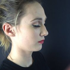 This is my look.  1940's soft neutral eye with a big wing and popping red lip :) So pleased with how much I am learning and loving working with different people.  .  .  .  .  #huddersfieldmua #macmua #1940s #redlips #discoverunder10k #beautylover #beautyblogger #softeyes #wingedliner