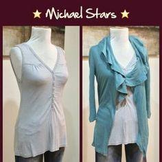 Michael Stars Tops - Michael Stars Striped Button Tank