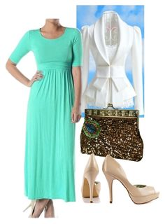 """""""Half Sleeve Maxi"""" by apostolicclothing ❤ liked on Polyvore featuring Yuki and Fergie"""