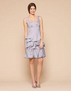 Short silver bridesmaid dress from Monsoon