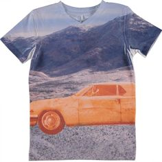 Multicolor shirt van Name It met v-hals en autoprint | Olliewood
