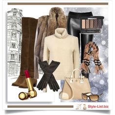 #Winter #Casual Outfit by http://style-list.biz  Join us on Facebook to get updates: https://www.facebook.com/stylelist.biz