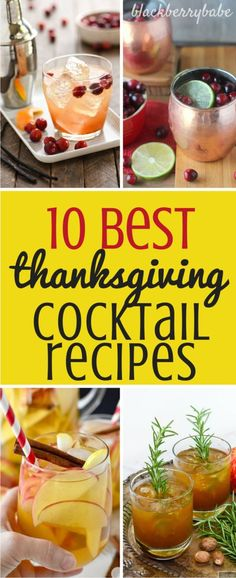 10 Best Easy Thanksgiving Cocktail Recipes that you will truly be thankful for Drinks Cranberry Pumpkin Apple Pear Bourbon Rosemary Thanksgiving Cocktails, Thanksgiving Menu, Holiday Drinks, Holiday Cocktails, Summer Cocktails, Cocktail Drinks, Holiday Recipes, Popular Cocktails, Best Thanksgiving Recipes