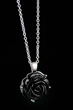 One of my faves Rose Necklace, Dog Tag Necklace, My Style, Accessories, Black, Random, Jewelry, Jewlery, Pink Necklace