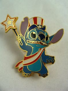 Stitch Patriotic pin