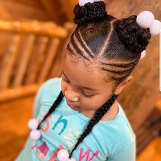 Little Girls Natural Hairstyles, Lil Girl Hairstyles, Black Kids Hairstyles, Kids Braided Hairstyles, Toddler Hairstyles, Hairstyles 2018, Braided Updo, Weave Hairstyles, Black Hairstyles