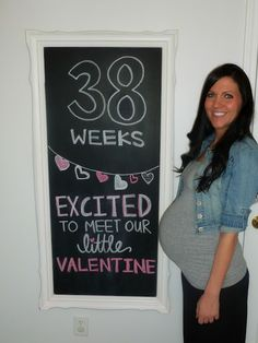 She had her baby! I've been following all her great chalkboard creations every week! Congrats!!!