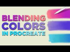 Blending colors in Procreate using special Procreate blending brushes. I'll show you how I blend colors in Procreate and what kind of movements and strokes I. Blend Tool, Coloring Tutorial, Digital Art Tutorial, Ipad Art, Fun To Be One, Creations, Art School, Art Education, Pop Of Color