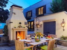 21 Incredible Outdoor Dining Spaces For Entertaining In Style Outdoor Chandelier, Patio Lighting, Dining Chandelier, Landscape Lighting, Lighting Ideas, Outdoor Rooms, Outdoor Dining, Outdoor Decor, Dining Area
