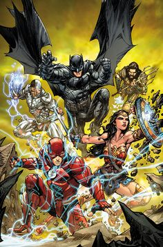 This reading order is designed to give a outline of major storylines featuring the Justice League throughout DC Comics. Marvel Comics, Comics Anime, Dc Comics Heroes, Arte Dc Comics, Dc Comics Characters, Dc Comics Peliculas, Justice League Comics, Justice League New 52, Univers Dc