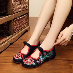 cfac04fdbb8f11 Phoenix Embroidered Hollow Out Casual Flat Vintage Loafers Espadrilles