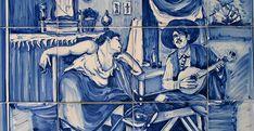 FADO - Pintura em azulejo de José Malhoa