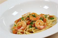 Linguini w/Shrimp Sauce. http://www.cookingwithnonna.com/italian-cuisine/linguine-with-shrimp-sauce.html