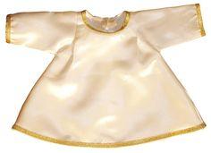 Trajes a medida para imágenes del Niño Jesús. Vestidos confeccionados en raso decorados con galón y puntilla. Presupuesto sin compromiso acorde a las características de cada figura del Niño Jesús. Pide precio sin compromiso!. (1/2) http://www.articulosreligiososbrabander.es/traje-imagen-figura-bebe-nino-jesus.html #TrajeJesus #TrajeNiñoJesus #VestidoJesus #VestidoNiñoJesus #BabyJesus #JesusCloth
