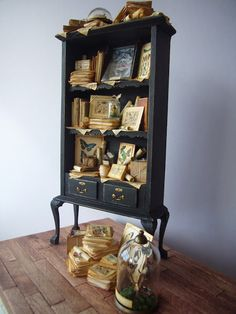 looking glass miniatures: Cabinets de curiosités