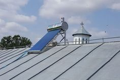 Panou solar apa calda INOX nepresurizat 100 litri - cu vas flotor Solar Panels, Outdoor Decor, Solar Panel Lights, Sun Panels