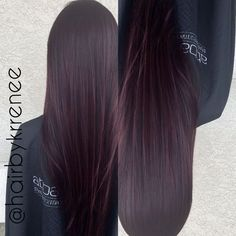 Deep plum purple tint hair