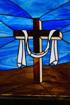 Christian Cross by StainedGlassbyBetty on Etsy