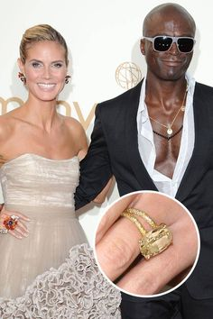 Despite this gorgeous yellow 10-carat engagement ring (given to Heidi Klum on top of a glacier!), Klum and Seal's marriage sadly ended in 2012.   - ELLE.com