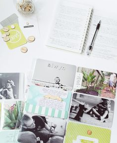Project Life Idea: small piece of journaling card over photo Project Life Baby, Project Life Album, Project Life Layouts, Pocket Scrapbooking, Scrapbook Layouts, Project Life Organization, Project Life Scrapbook, Creation Couture, Journal Cards