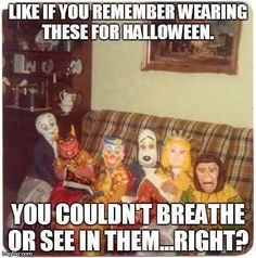 I remember getting to that age when homemade costumes just wouldn't do anymore. Now I know what my mom made was way better than store bought.
