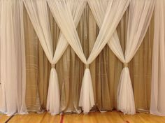 Wedding Backdrops, not just for weddings, love the look for bedroom.