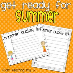 Fun activity for kids who are growing restless waiting for summer.